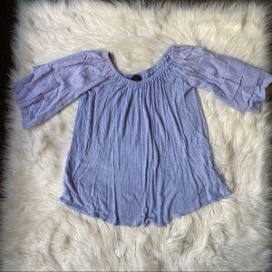 lucky brands baby blue women's blouse